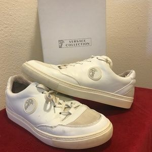 VERSACE WHITE Men's Shoes Sneakers Size 9 with box